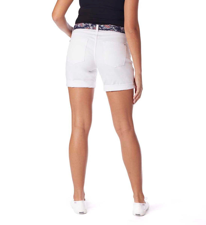 Carter Girlfriend Shorts - White
