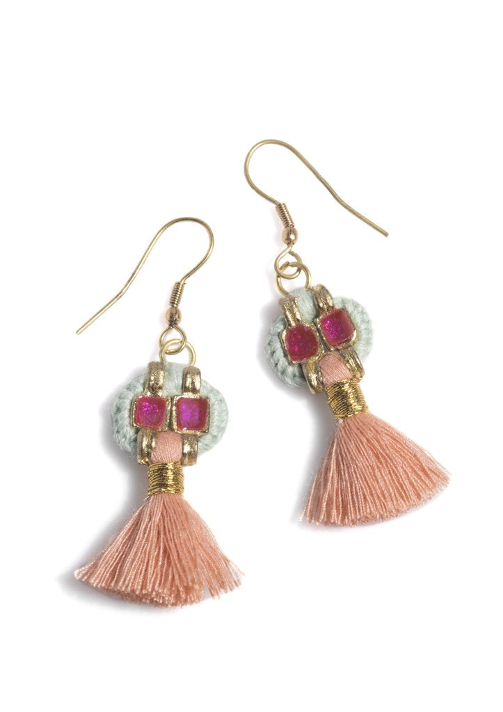 Paz Boho Tassel Earrings