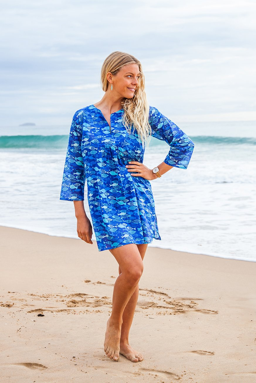 Aquarium Beach Tunic Cover-Up