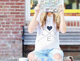 L.O.V.E. Maternity tee shirt                              ** PREORDER FOR JULY DELIVERY**