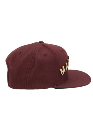 Marillest Leaf Snapback in Burgundy