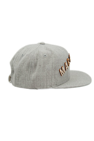 Marillest Leaf Snapback in Gray