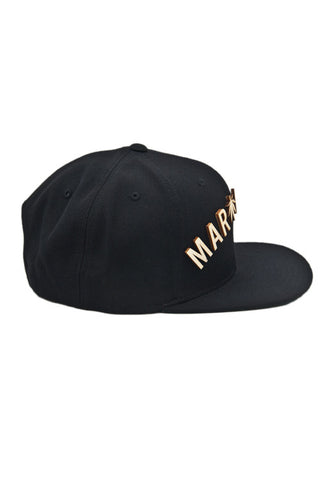 Marillest Leaf Snapback in Black