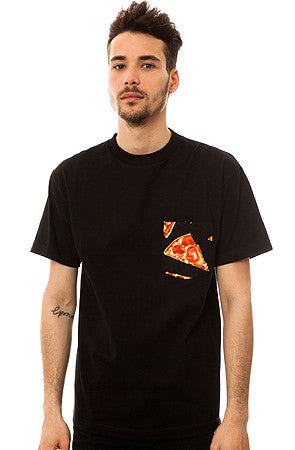 The All American Pizza T-shirt in Black