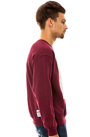 Marlon Crewneck in Burgundy