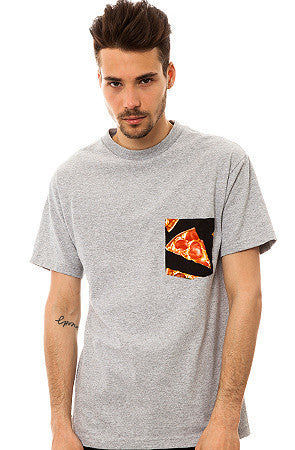 The All American Pizza T-shirt in Heather Gray