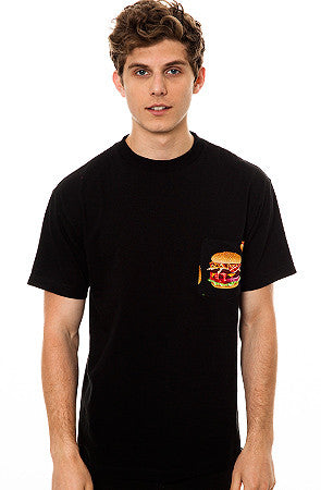 The All American Burger T-shirt in Black
