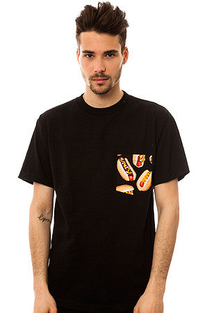 The All American Hotdog T-shirt in Black