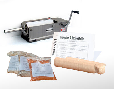 Deluxe Sausage Making Kit With Horizontal Stuffer