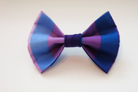 Shades of Purple Dog Bow Tie