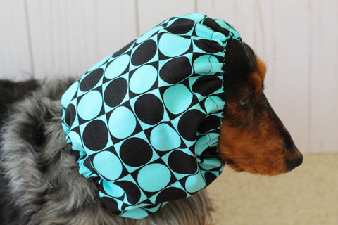 Blue and Black Geometric Snood