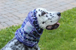 Purple Geometric Dog Snood