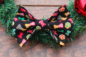 Christmas Cookies Dog Bow Tie