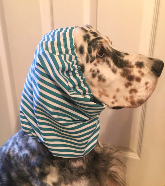 Blue and White Striped Snood