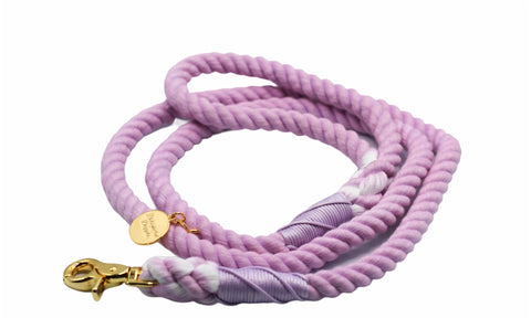 Lilac Dog Rope Leash