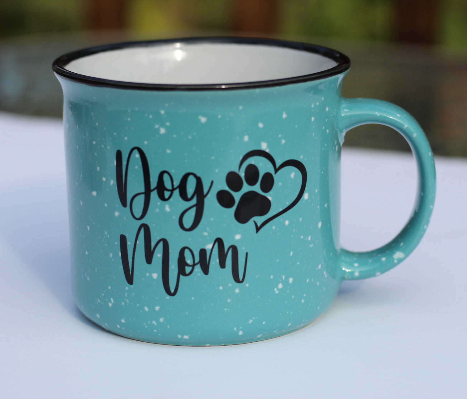 Mint Green Dog Mom Campfire Mug