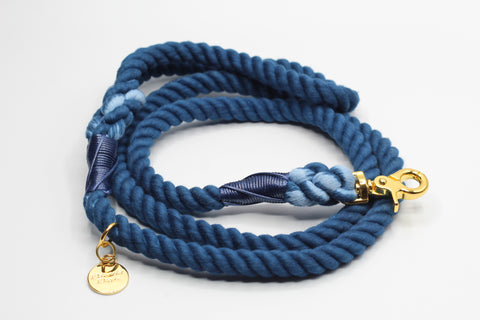 Navy Dog Rope Leash