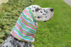 Pink, Green, White, and Blue Striped Snood