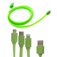 Charger l'image dans la galerie, cable usb smartphone iphone phosphorescent
