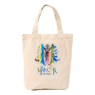 sac Tote bag logo le Manoir de Paris rainbow arc en ciel