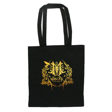 sac Tote bag Manoir de Paris noir doré