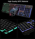 Rainbow Gaming Keyboard Mouse Set LED Multi-Colored Changing Backlight Mouse Gadgets trendyoutfiters