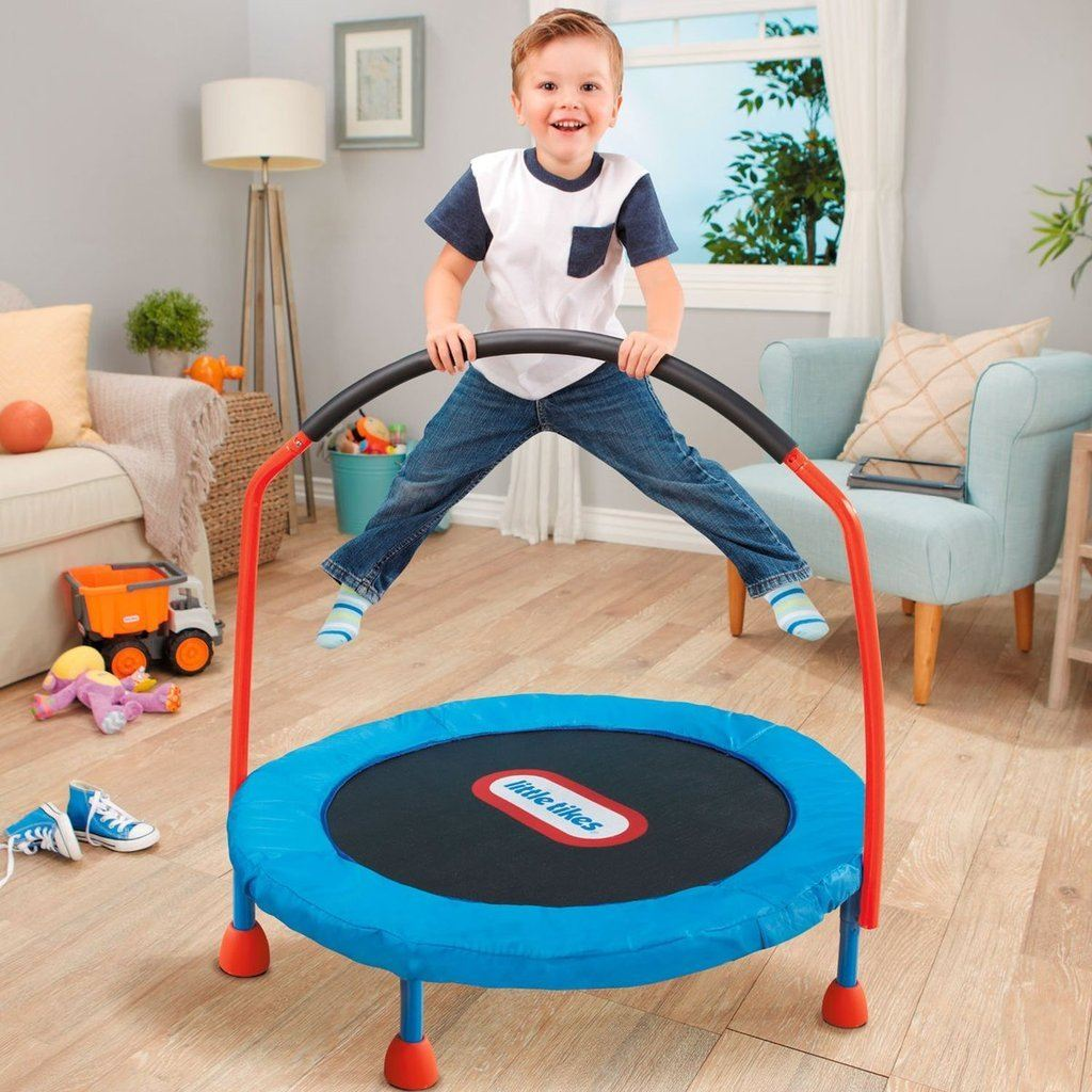 Kids Trampoline with Hand Rail - Little Tikes 3-Foot Trampoline Trampoline trendyoutfiters