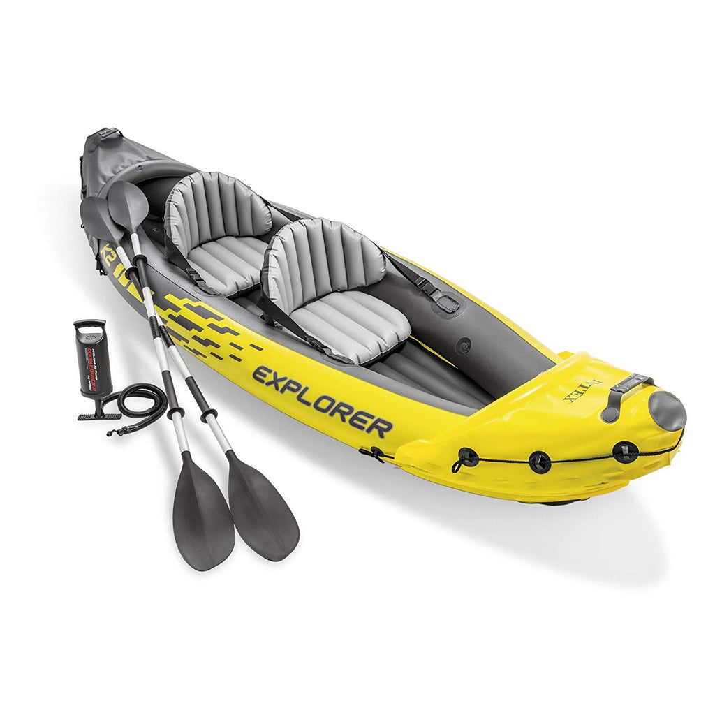 Intex Explorer K2 2-Person Inflatable Kayak Set Inflatable Kayak Set trendyoutfiters