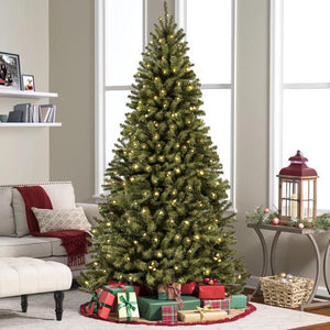 7.5ft Pre-Lit Spruce Artificial Christmas Tree w/ 550 LED Lights Artificial Christmas Tree Trendy out Fiters