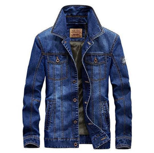 "Trendyoutfiters ""laszlo"" denim jean jacket Denim Jacket trendyoutfiters Denim Blue M"