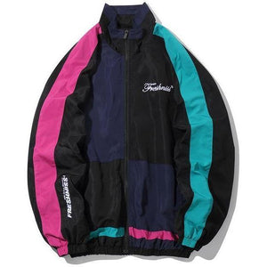 "Trendyoutfiters ""Vice City"" Color Block Windbreaker Jacket Color Block Windbreaker Jacket similar to clubgiv trendyoutfiters Black S"