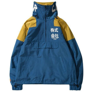 "trendyoutfiters ""Ryu"" Half Zip Windbreaker Jacket windbreaker jacket similar to clubgiv trendyoutfiters Blue S"