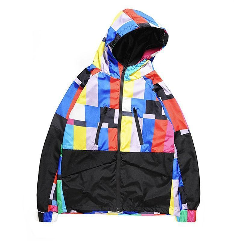 "trendyoutfiter ""Technicolor"" Windbreaker Jacket jacket similar to clubgiv trendyoutfiters S"