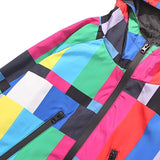 "trendyoutfiter ""Technicolor"" Windbreaker Jacket jacket similar to clubgiv trendyoutfiters"
