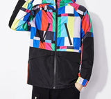 "trendyoutfiter ""Technicolor"" Windbreaker Jacket jacket similar to clubgiv trendyoutfiters M"