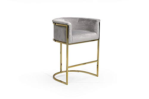 Half-Moon Goldtone Counter Stool