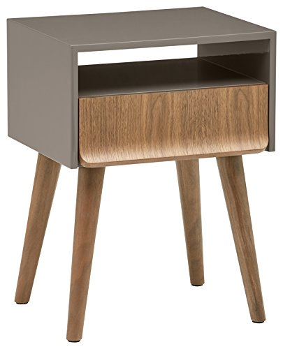 Mid-Century Modern Walnut Lacquer Nightstand