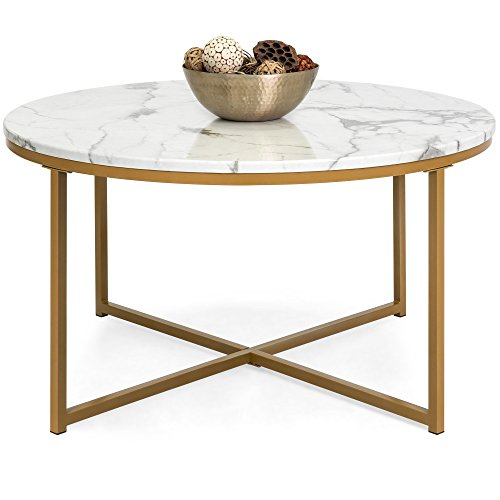 Faux Marble Accent Side Coffee Table
