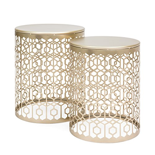 Geometric Detail Decorative Nightstands