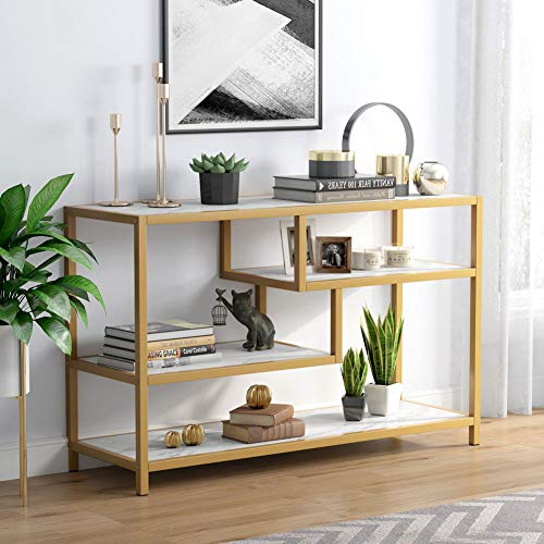 Gold Sofa Entry Table 3-Tier