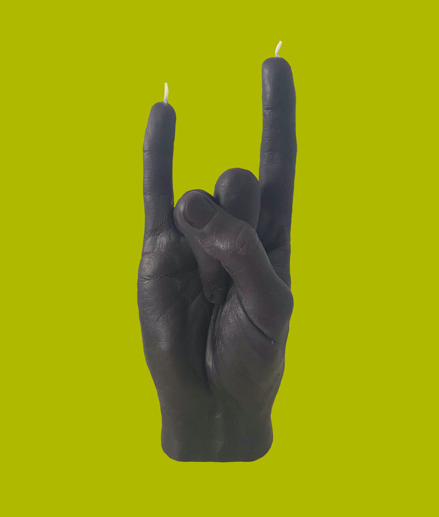 YOU ROCK Hand Gesture Candle - Black