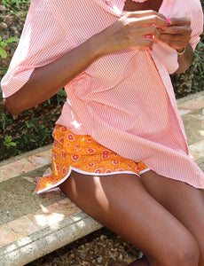 Mango Candy Stripe Blouse