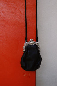 Leather Kisslock Bag
