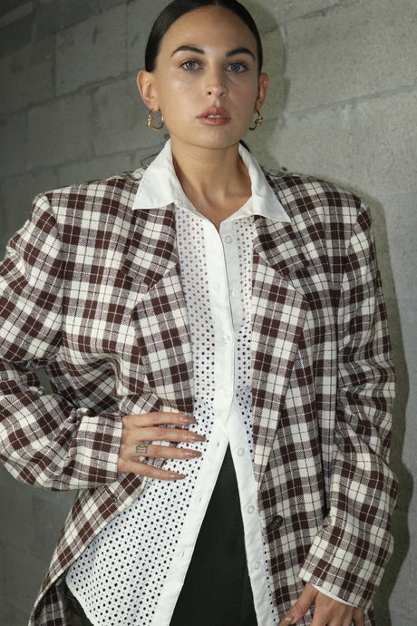 Toney Tone Plaid Blazer
