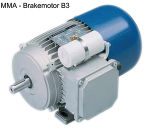 Carpanelli MM63B4 0.15Kw/0.20Hp 4-pole 1ph AC Metric Motor or Brakemotor