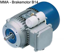 Load image into Gallery viewer, Carpanelli MM63B4 0.15Kw/0.20Hp 4-pole 1ph AC Metric Motor or Brakemotor