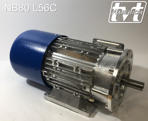 1hp 4pole 3ph NEMA 56C AC, Brake, & Vector Motors