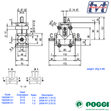 Load image into Gallery viewer, Poggi bevel gearbox 2008