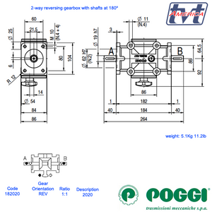 Poggi® Concentric Shaft Reversing gearbox 2020 Series
