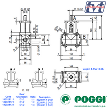Load image into Gallery viewer, Poggi Bevel Gearbox 2028